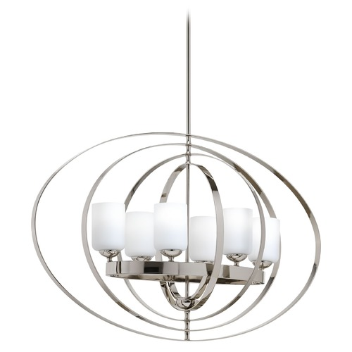 Progress Lighting Progress Lighting Equinox Polished Nickel Pendant Light with Cylindrical Shade P3940-104