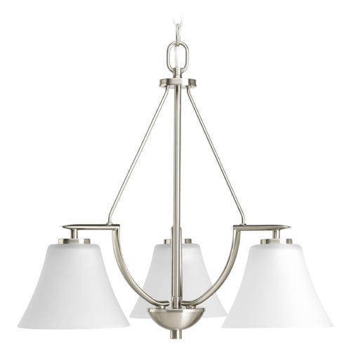 Progress Lighting Progress Lighting Bravo Brushed Nickel Mini-Chandelier P4621-09WB