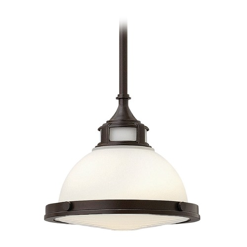 Hinkley Lighting Hinkley Lighting Amelia Buckeye Bronze Mini-Pendant Light with Bowl / Dome Shade 3127KZ-GU24