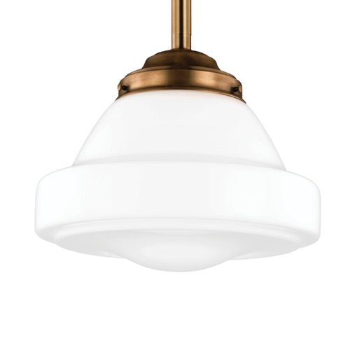 Feiss Lighting Feiss Alcott Aged Brass Pendant Light P1381AGB