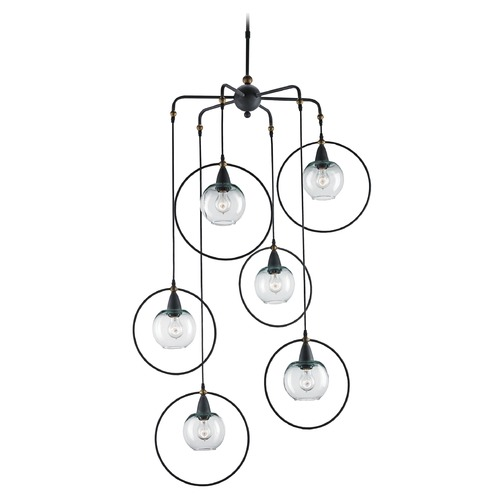 Currey and Company Lighting Currey and Company Moorsgate Blacksmith / Old Brass Multi-Light Pendant 9869