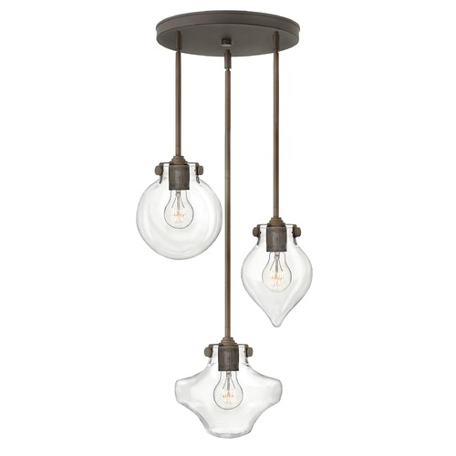 Hinkley Lighting Hinkley Lighting Congress Oil Rubbed Bronze Mini-Pendant Light 3198OZ