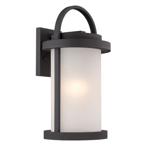 Nuvo Lighting Nuvo Lighting Willis Textured Black LED Outdoor Wall Light 62/652
