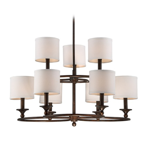 Quoizel Lighting Quoizel Lighting Adams Leathered Bronze Chandelier ADA5009LN