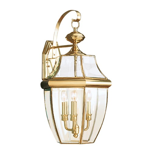 Sea Gull Lighting Sea Gull Lighting Lancaster Polished Brass LED Outdoor Wall Light 8040EN-02