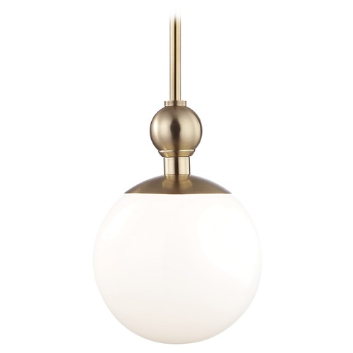 Hudson Valley Lighting Mid-Century Modern Pendant Light Brass Mitzi Daphne by Hudson Valley Lighting H118701S-AGB