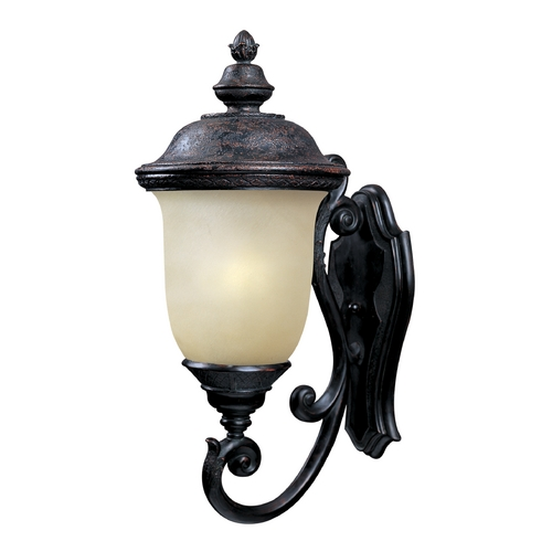 Maxim Lighting Outdoor Wall Light with Beige / Cream Glass in Oriental Bronze Finish 86524MOOB