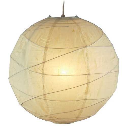 Adesso Home Lighting Modern Pendant Light with Beige / Cream Paper Shade in Natural Finish 4160-12