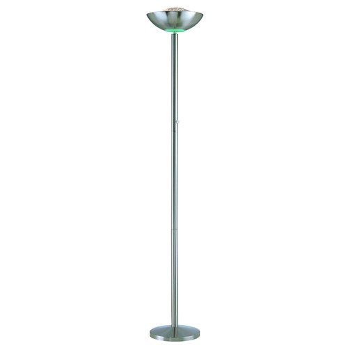 Lite Source Lighting Modern Torchiere Lamp in Polished Steel Finish LS-80910PS