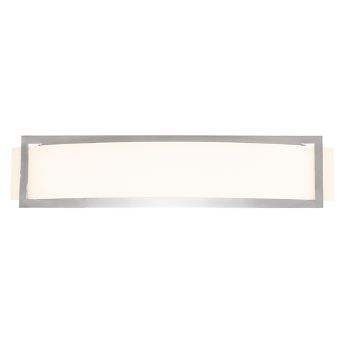 Access Lighting Bathroom Light with White Glass in Brushed Steel Finish 62105-BS/OPL