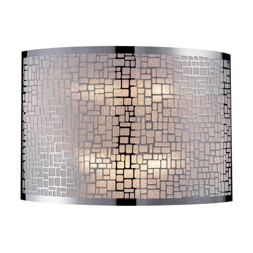 Elk Lighting Modern Sconce Wall Light with White Glass in Polished Stainless Steel Finish 31040/2