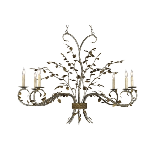 Currey and Company Lighting Chandelier in Viejo Gold / Viejo Silver Finish 9021