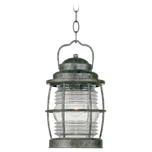 Kenroy Home Lighting Outdoor Hanging Light with Clear Glass in Flint Finish 90955FL