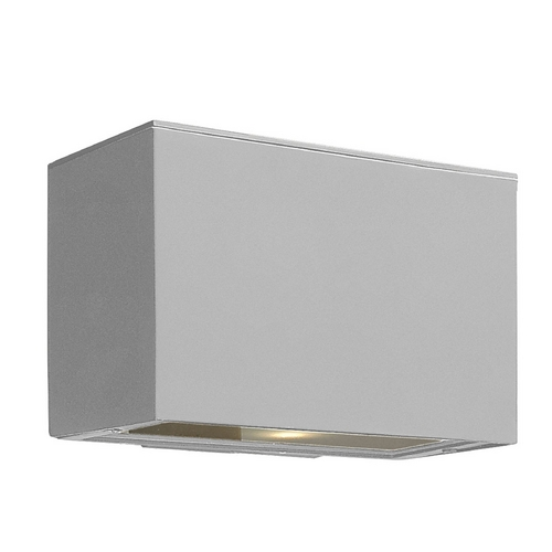 Hinkley Lighting Modern Outdoor Wall Light with White Glass in Titanium Finish 1646TT-GU24