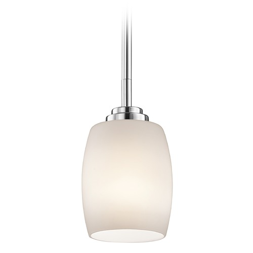 Kichler Lighting Kichler Lighting Eileen Chrome Mini-Pendant Light with Oblong Shade 3497CH