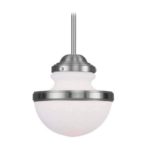 Livex Lighting Livex Lighting Oldwick Brushed Nickel Mini-Pendant Light 5724-91