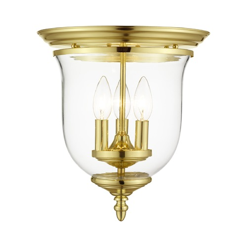 Livex Lighting Livex Lighting Legacy Polished Brass Flushmount Light 5021-02