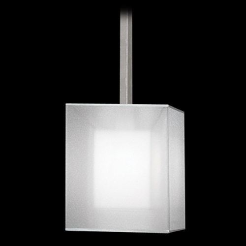 Fine Art Lamps Fine Art Lamps Quadralli Silver Leafed Mini-Pendant Light with Square Shade 331040-2ST