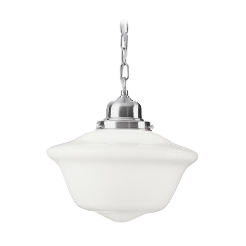 Hudson Valley Lighting Pendant Light with White Glass in Satin Nickel Finish 1615-SN