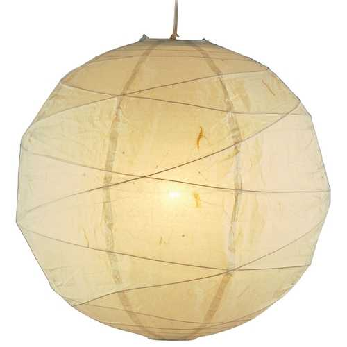 Adesso Home Lighting Modern Pendant Light with Beige / Cream Paper Shade in Natural Finish 4161-12