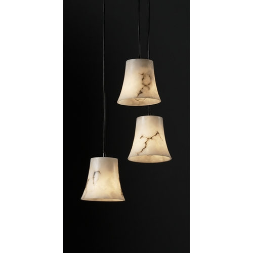Justice Design Group Justice Design Group Lumenaria Collection Multi-Light Pendant FAL-8818-20-MBLK