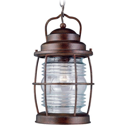 Kenroy Home Lighting Outdoor Hanging Light with Clear Glass in Gilded Copper Finish 90955GC
