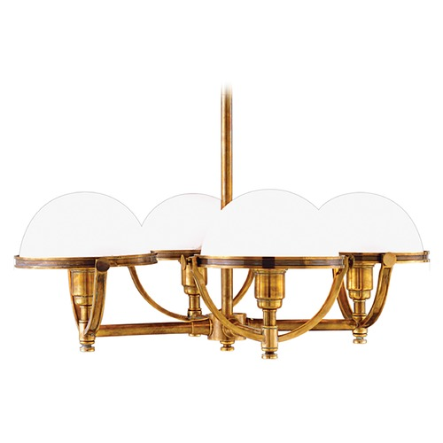 Hudson Valley Lighting Vintage Inspired Brass Chandelier with Dome Shades 3314-AGB