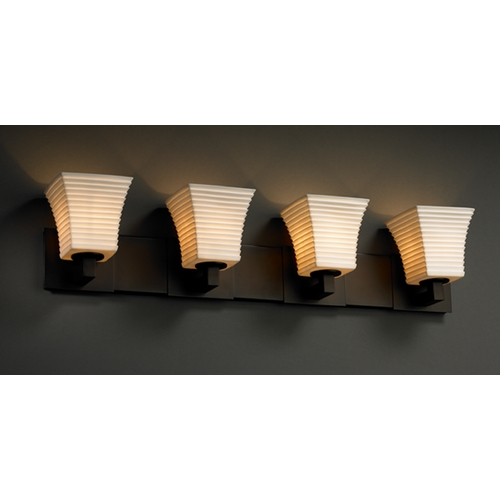 Justice Design Group Justice Design Group Limoges Collection Bathroom Light POR-8924-40-SAWT-DBRZ