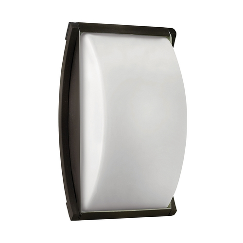Hinkley Lighting Modern Outdoor Wall Light with White Glass in Bronze Finish 1650BZ-GU24