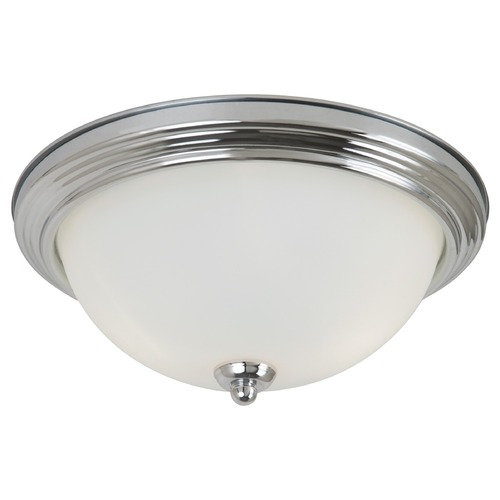 Sea Gull Lighting Sea Gull Lighting Ceiling Flush Mount Chrome Flushmount Light 77065-05