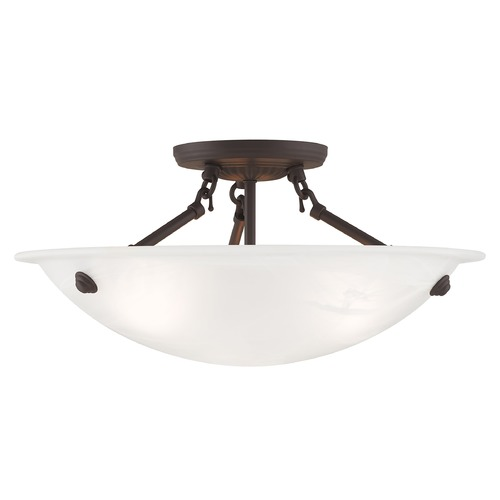 Livex Lighting Livex Lighting Oasis Bronze Semi-Flushmount Light 4273-07