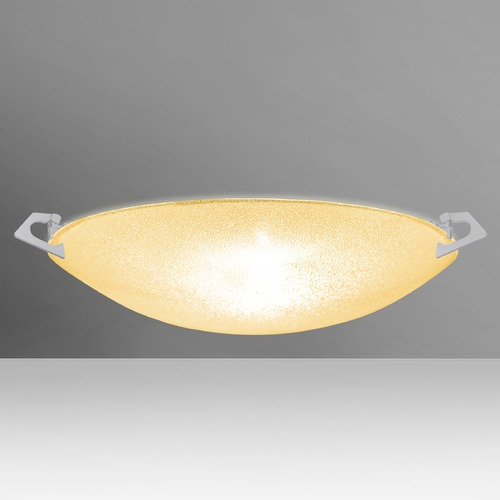 Besa Lighting Besa Lighting Sonya Satin Nickel Flushmount Light 8417GD-SN