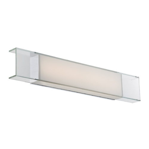 Modern Forms by WAC Lighting Cloud Chrome LED Bathroom Light - Vertical or Horizontal Mounting WS-3428-CH