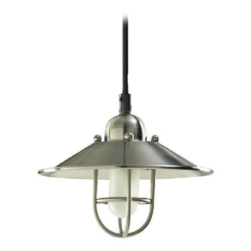 Farmhouse Mini-Pendant Light Satin Nickel By Quorum