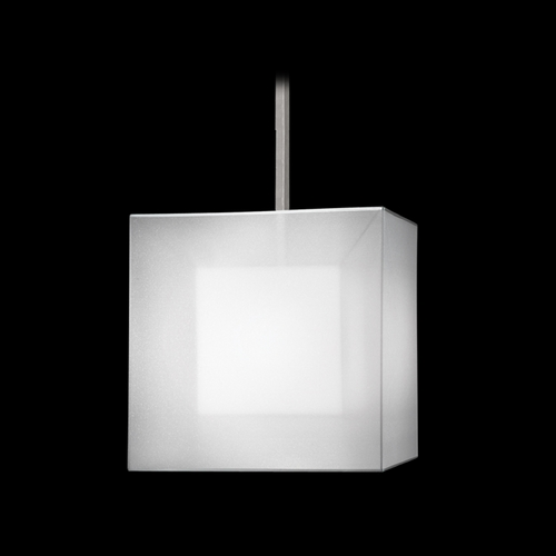 Fine Art Lamps Fine Art Lamps Quadralli Silver Leafed Pendant Light with Square Shade 330640-2ST