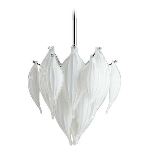 Cyan Design Cyan Design Daisy Leaf White Pendant Light 5949
