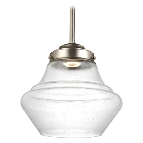 Feiss Lighting Feiss Lighting Alcott Satin Nickel LED Mini-Pendant Light P1405SN-LED