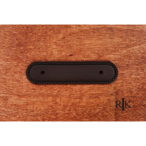RK International Beaded Oblong Pull Backplate BP1792BRB