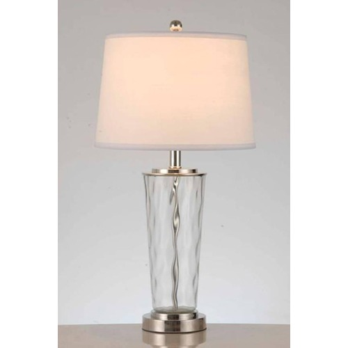 Lite Source Lighting Lite Source Godivo Polished Steel Table Lamp with Drum Shade LS-22815