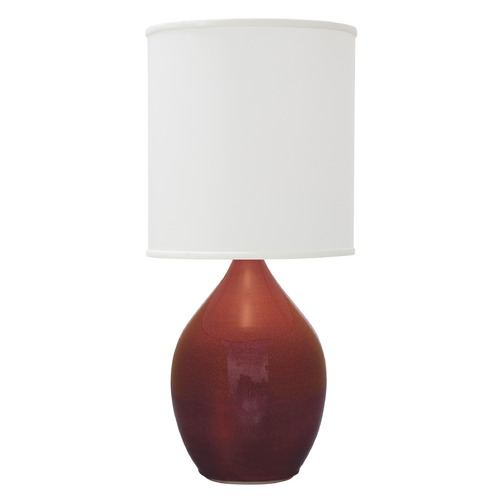 House of Troy Lighting House of Troy Scatchard Crimson Red Table Lamp with Cylindrical Shade GS401-CR