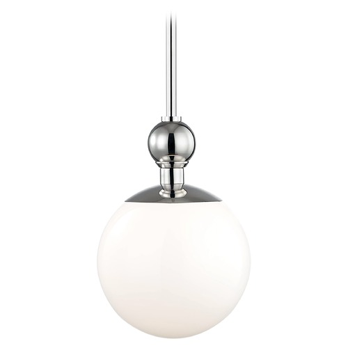 Mitzi by Hudson Valley Mid-Century Modern Pendant Light Polished Nickel Mitzi Daphne by Hudson Valley H118701S-PN