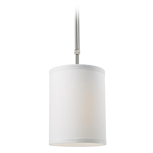 Z-Lite Z-Lite Albion Brushed Nickel Mini-Pendant Light with Cylindrical Shade 171-6W