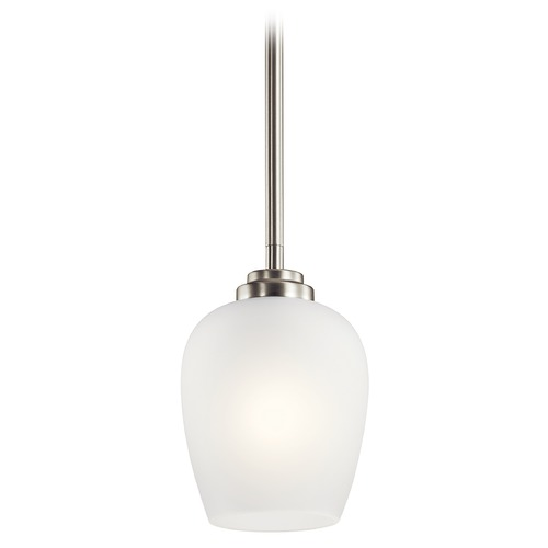 Kichler Lighting Valserrano Brushed Nickel Mini-Pendant with Satin Etched Glass 44380NI