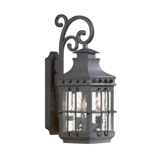 Troy Lighting Outdoor Wall Light with Clear Glass in Natural Bronze Finish BCD8971NB