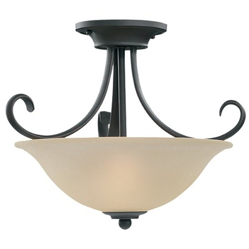 Sea Gull Lighting Semi-Flushmount Light in Chestnut Bronze Finish 51120-820