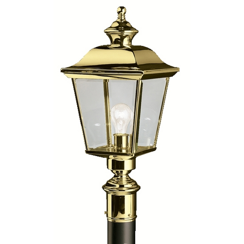 Kichler Lighting Kichler Post Light with Clear Glass in Polished Brass Finish 9913PB