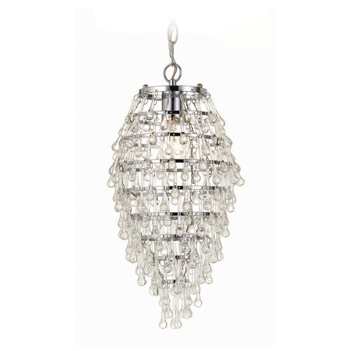 AF Lighting Swag Pendant Chandelier Light with Clear Crystal Teardrops 8122-1H