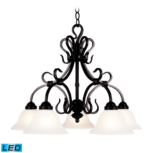 Elk Lighting Elk Lighting Buckingham Matte Black LED Chandelier 245-BK-LED