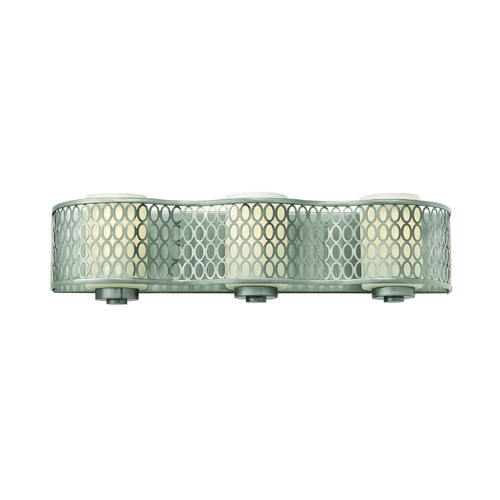 Hinkley Lighting Modern Bathroom Light with White Glass in Brushed Nickel Finish 53243BN