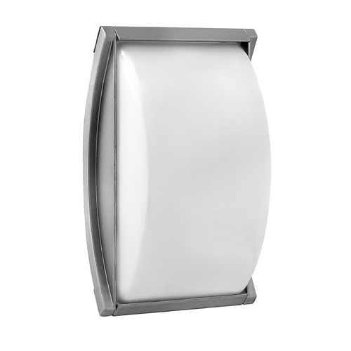 Hinkley Lighting Modern Outdoor Wall Light with White Glass in Titanium Finish 1650TT-GU24